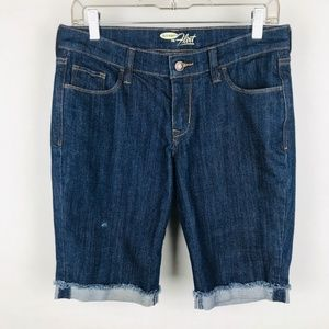 Old Navy The Flirt Cuffed Blue Jean Shorts